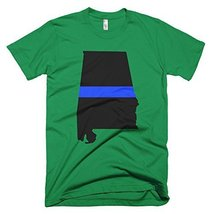 Alabama Thin Blue Line Men's T-Shirt (XXX, Kelly Green) - $24.99