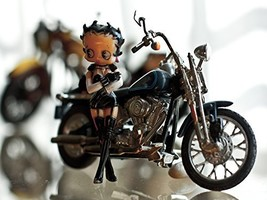 Betty Boop Poster Motorcycle Poster Harley Davidson Motorcycle 18x24 - $19.99
