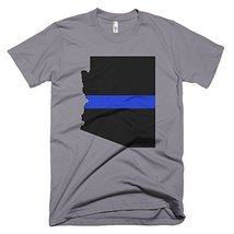 Arizona Thin Blue Line T-Shirt (Large, Slate) - $24.99
