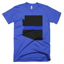Arizona Thin Blue Line T-Shirt (X-Large, Royal Blue) - $24.99