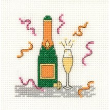 DMC Cross Stitch Kit - Mini Birthday Kit - Champagne - $3.95