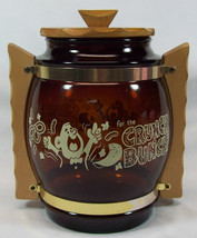 Siesta Ware Brown Barrel Glass Snack/Cookie Jar... - $24.49