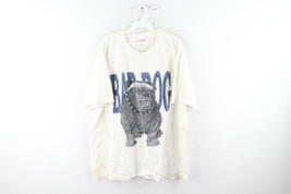 Vintage 90s Streetwear Mens XL Bad Dog Bulldog Spell Out Distressed T-Shirt - $34.60