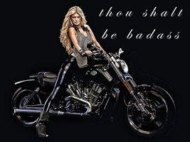 Motorcycle Poster Harley Davidson Poster Model Poster Biker Babe 18x24 - $19.99
