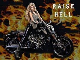 Motorcycle Poster Harley Davidson Poster Biker Gifts Biker Babe 24x36 - $29.99