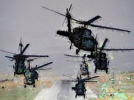 Black Hawk Poster Army Art Military Art Helicopter Art 24x36 (ARMYV253) - $29.99
