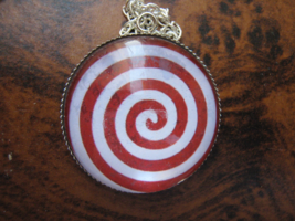Hypnotic Red Spiral pendant. Ηypnosis wheel. Sleep Formula. Relaxing your body - $44.44