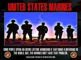 US Marines Poster Marine Corps USMC Military Gifts Military Quote 18x24 (USMV1) - $19.99