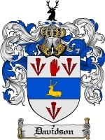 Primary image for Davidson Family Crest / Coat of Arms JPG or PDF Image Download