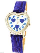 New swiss movt Aqua Master watch lady three heart style 0.50ct diamond blue - $193.05
