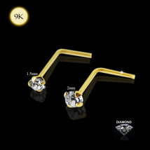 9ct Solid Yellow Gold CLaw Set Genuine DIAMOND 22Gauge (0.6MM) - 4x4mm L... - $20.49