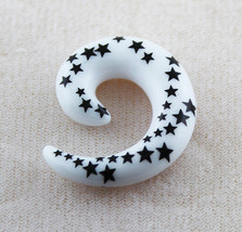 Multi Black Star Spiral Taper Ear Plug Expender Stretcher Plug - $2.59