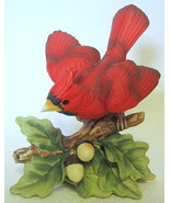 Vintage Lefton Cardinal Bird Figurine Porcelain #KW8009 Japan - $40.09