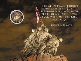 USMC Motivation Poster General James Mattis Poster 18x24 (IwoJima19) - $19.99