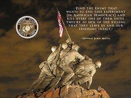 USMC Motivation Poster General James Mattis Poster 18x24 (IwoJima21) - $19.99