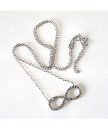 """Sterling Silver Infinity Cubic Zirconia Accents Necklace 16"""" + 2"""" Extend... - $23.76"""