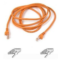 Belkin Cat5e Patch Cable - RJ-45 Male Network - RJ-45 Male Network - 7ft - Orang - $12.45