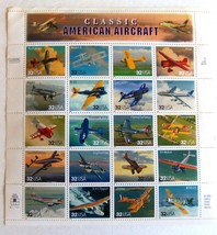 "1997 ""Classic American Aircraft"" Sheet of 20 USPS $.32 Stamps - $29.07"