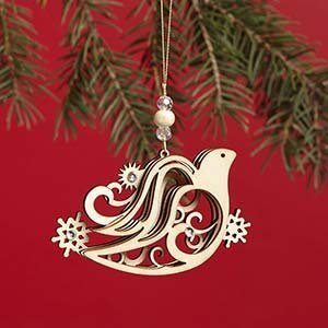 Enesco Flourish Dove Ornament 2 IN