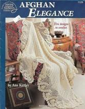 Afghan Elegance American School of Needlework 1129 1992 5 Designs to Crochet - $9.89