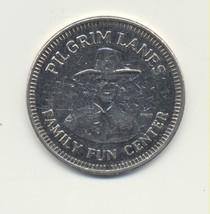 BOWLING TOKEN : PILGRIM LANES : HAVERHILL, MA / 24mm WM RWM - $6.93