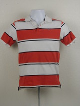 Tommy Hilfiger Polo Shirt Boy's Youth Size M Medium 12/14 Striped Red White - $15.82