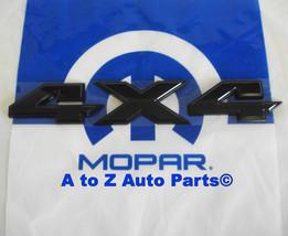 "NEW 2009-2015 Dodge Ram 4X4 3D ""BLACK"" Tailgate Emblem, OEM Mopar - $47.95"