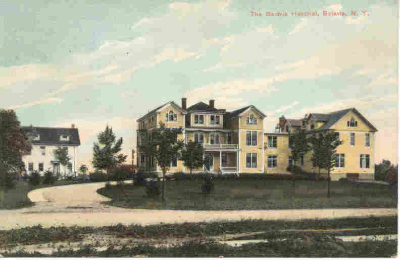 Batavia Hospital Batavia New York 1908 vintage Post Card
