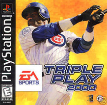 Triple Play 2000 PS1 Great Condition Complete Fast Shipping - $6.93