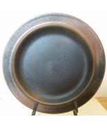 "Arabia of Rinland Ruska Mid Century Modern Brown Pottery Plate / Rim 10.25"" - $30.00"