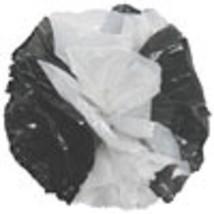 "25 Car Limo wedding Decoration Plastic Pom Poms Flower 4"" - black and white - $4.94"