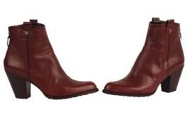 Stuart Weitzman HIPGAL Mahogany Brown Leather Short Western Bootie Boot SZ 8 NWB - $349.98