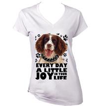Springer Spaniel A Little Joy   New Cotton T Shirt  S M L Xl Xxl - $25.24