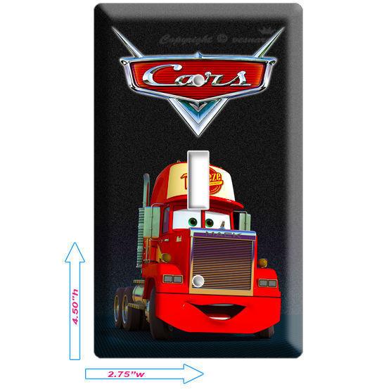 DISNEY'S CARS 2 MACK TRUCK SINGLE LIGHT SWITCH PLATE BOYS GAME ROOM DECORATION - $10.99