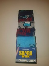 Shark week mens casual crew socks fits shoe size 8 to 12 5 pairs new in ... - $19.95