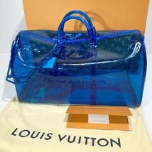 Louis Vuitton Keepall 50 Bag Hand Shoulder Blue Bandouliere Monogram Aut... - $8,336.75