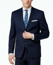 NEW MENS ALFANI NAVY BLUE SPORT COAT BLAZER JACKET 44 LONG $360 - $39.59