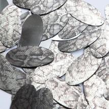 "Oval Sequin 1.5"" Gray Black Snakeskin Reptile Pattern Metallic - $14.97"