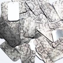 "Rectangle Sequin 1.5"" Gray Black Snakeskin Reptile Pattern Metallic - $14.97"