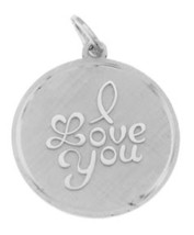 VINTAGE BEAU BEAUCRAFT STERLING SILVER I LOVE YOU CHARM - $14.03