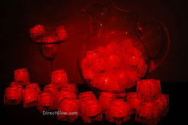 Set of 48 Red Litecubes Brand 3 Mode Light up LED Ice Cubes - $74.95