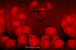 Set of 96 Red Litecubes Brand  3 Mode Light up LED Ice Cubes - $188.80 CAD