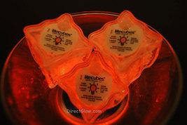 Set of 6 ORANGE LiteCubes Brand 3 Mode LED Light up Ice Cubes - $13.95