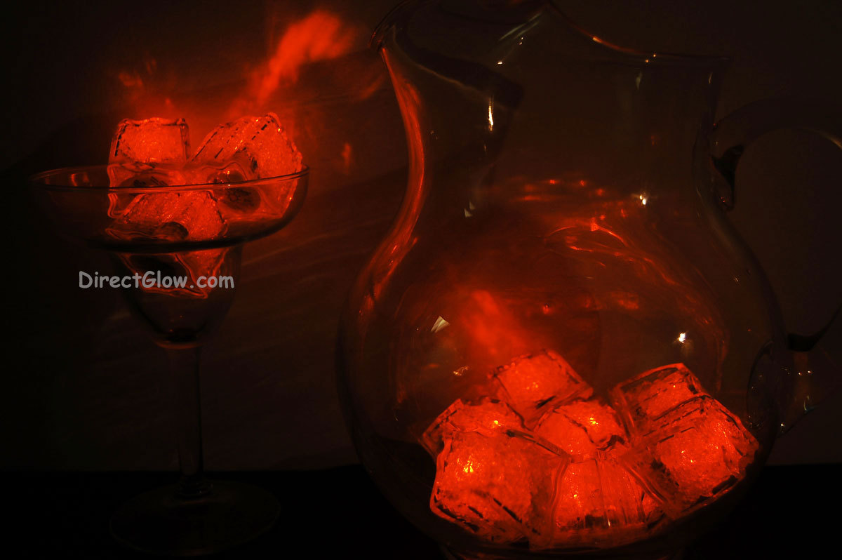 Primary image for Set of 12 ORANGE LiteCubes Brand 3 Mode LED Light up Ice Cubes