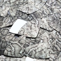 "Fishscale Fin Sequin 1.5"" Gray Black Snakeskin Reptile Pattern Metallic - $14.97"