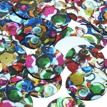 30mm Sequins Multicolor Sequined Mix Pattern Metallic - $14.97