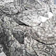"Teardrop Sequin 1.5"" Gray Black Snakeskin Reptile Pattern Metallic - $14.97"