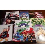 9 Avengers Stickers, Spiderman, Thor, Hulk, Captain America, Super Heros... - $8.99