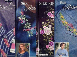 4 Bucilla Silk Ribbon Embroidery Transfer Patterns~Lot B - $11.30