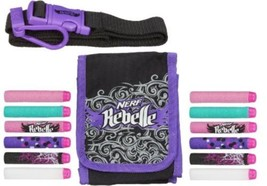 Nerf Rebelle Dart Diva Bag and Belt - Comes With 10 Darts And Adjustable... - $19.81